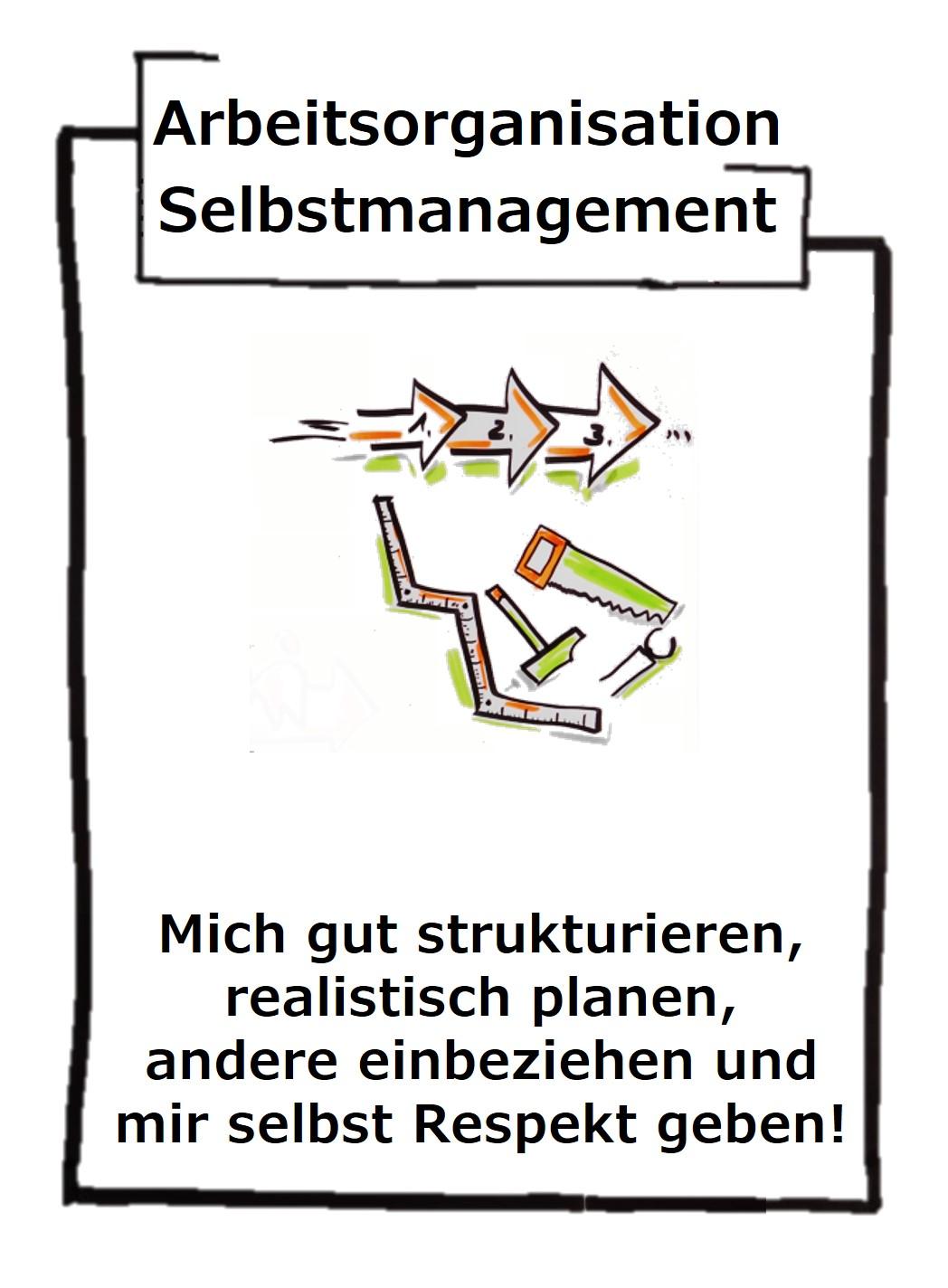 Die eigene Arbeitsorganisation benötigt ein gutes Selbstmanagement. Habe ich mich selbst nicht unter Kontrolle treibt mich mein Umfeld!