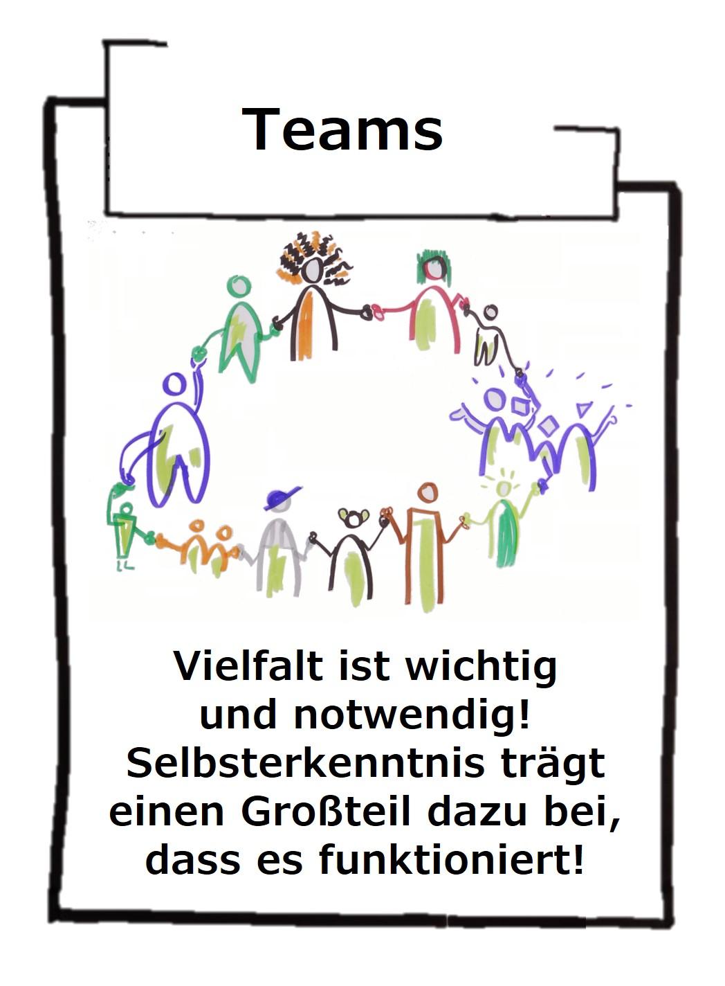 Teams oder Teamarbeit wird häufig falsch bewertet. Wir müssen Individualität genauso fördern, wie die Zusammenarbeit - die Balance muss stimmen!