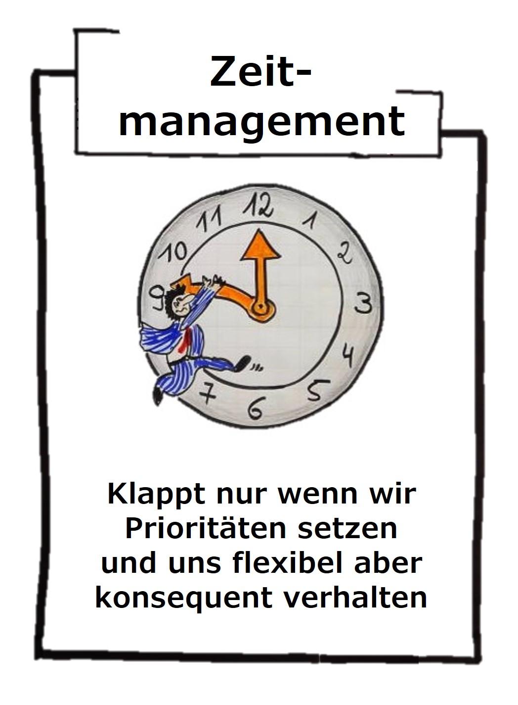 Zeitmanagement ist genauso wichtig, wie ein Selbstmanagement, denn nur wir sind Herr unserer Zeit, sonst niemand!